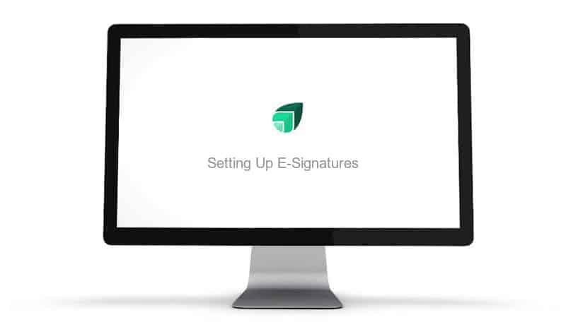 Setting Up E-Signatures