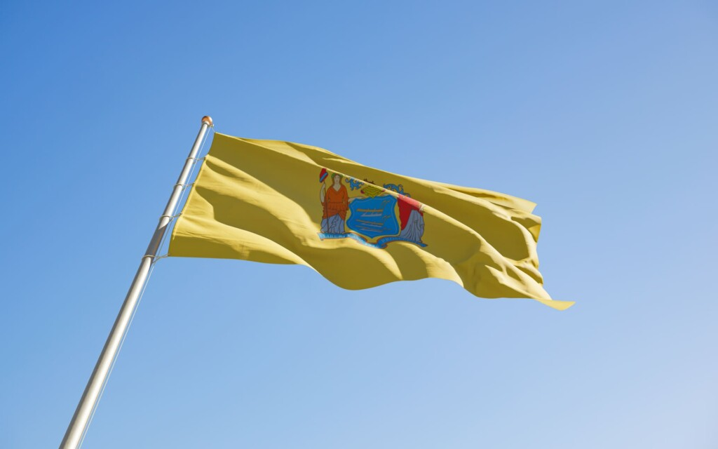 new-jersey-us-state-flag-low-angle